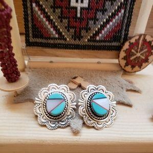 Inlay Turquoise Earrings